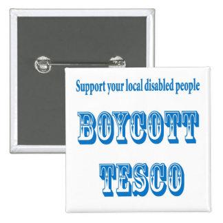 boycott Tesco Badge Avec Épingle