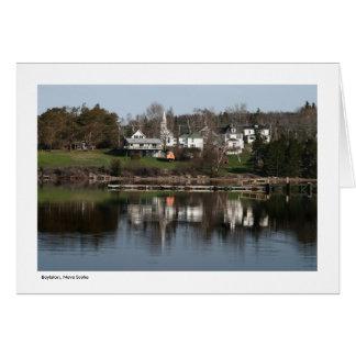 Boylston, la Nouvelle-Écosse - carte de voeux