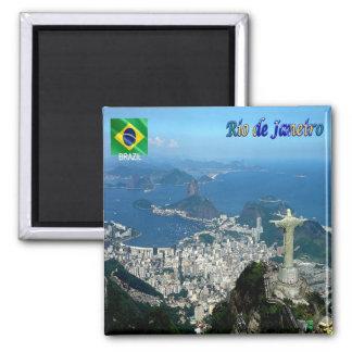 BR - Brésil - Rio de Janeiro Magnet Carré