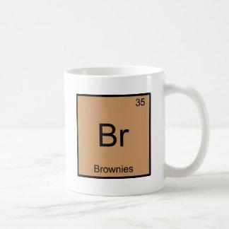 Br - pièce en t drôle de symbole d'élément de mug blanc