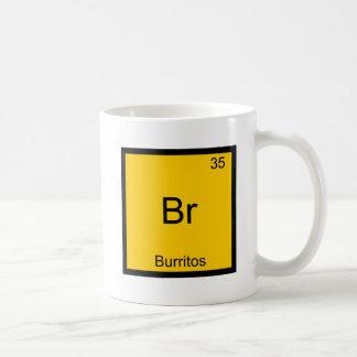 Br - symbole d'élément de chimie de Burritos drôle Mug À Café
