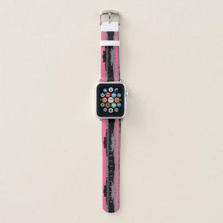Bracelet Apple Watch abrégé sur noir rose et gris