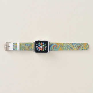 Bracelet Apple Watch Abstraction colorée de remous