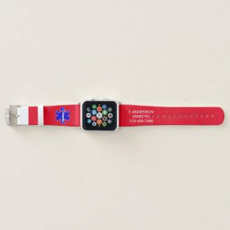Bracelet Apple Watch Alerte médicale faite sur commande de secours