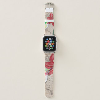 Bracelet Apple Watch Ammaryllis de carte de Hummer II
