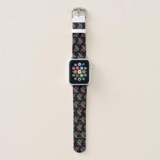 Bracelet Apple Watch Amour/coeurs/calligraphie japonaise