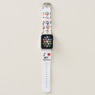 Bracelet Apple Watch amour de beagle