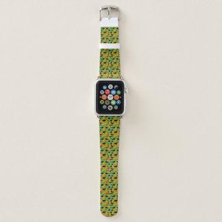 Bracelet Apple Watch Ananas d'or sur des rayures