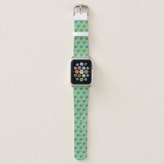 Bracelet Apple Watch Ananas lumineux sur le motif géométrique