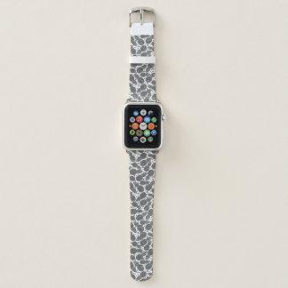 Bracelet Apple Watch Ananas monochromes