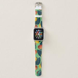 Bracelet Apple Watch aples et vert de citrons