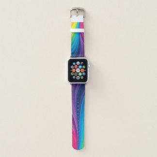 Bracelet Apple Watch Arc-en-ciel d'amusement de couleurs