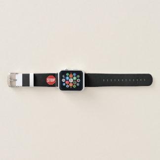 Bracelet Apple Watch ARRÊTEZ le signe