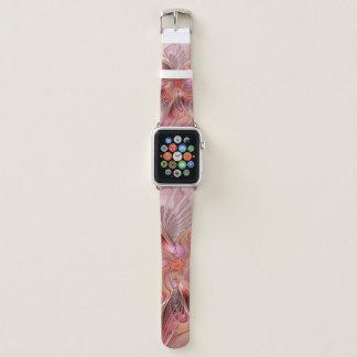 Bracelet Apple Watch Art coloré de fractale d'imaginaire de papillon