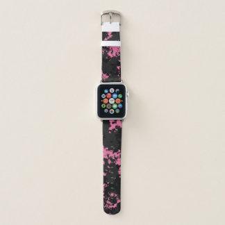 Bracelet Apple Watch Art de nuage de rose et de charbon de bois