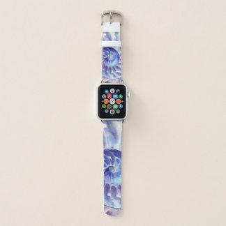 Bracelet Apple Watch Art pourpre bleu de coquille de Nautilus