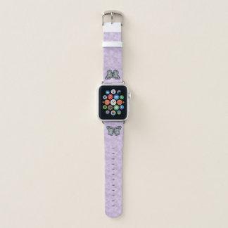 Bracelet Apple Watch Bande de montre audacieuse d'Apple de papillon