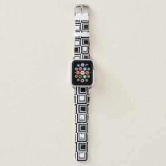 Bracelet Apple Watch Bande de montre blanche noire d'Apple de boîte
