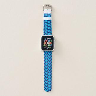 Bracelet Apple Watch Bande de montre bleue d'Apple de motif de coeur