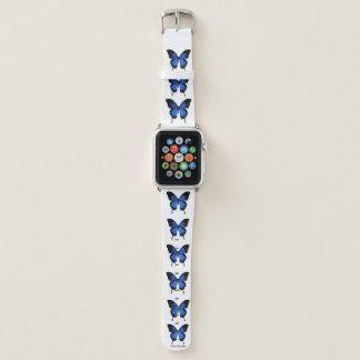 Bracelet Apple Watch Bande de montre bleue d'Apple de motif de papillon