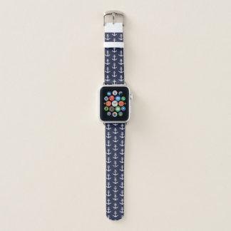 Bracelet Apple Watch Bande de montre bleue nautique d'Apple