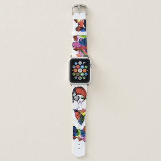 Bracelet Apple Watch Bande de montre colorée pareau d'Apple de mode