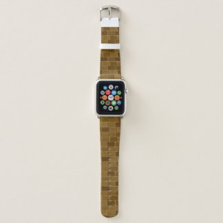Bracelet Apple Watch Bande de montre d'Apple avec des briques de Brown
