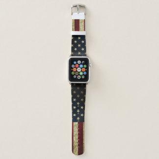 Bracelet Apple Watch Bande de montre d'Apple avec le drapeau américain