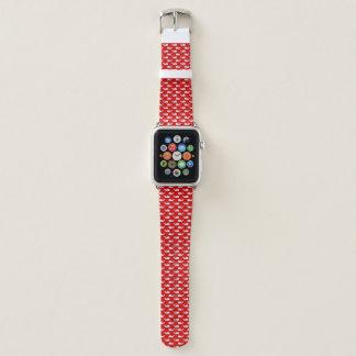 Bracelet Apple Watch Bande de montre d'Apple de baleine rouge et