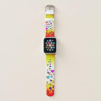 Bracelet Apple Watch Bande de montre d'Apple de conception de coeur