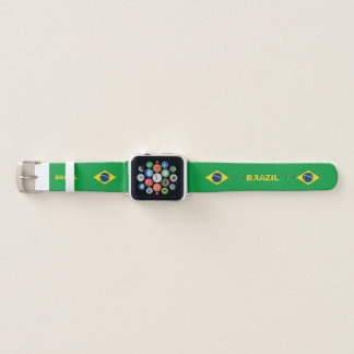 Bracelet Apple Watch Bande de montre d'Apple de drapeau du Brésil