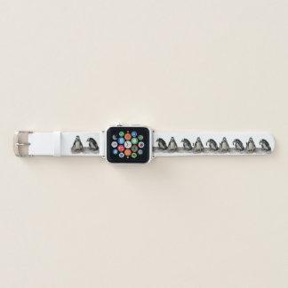 Bracelet Apple Watch Bande de montre d'Apple de motif d'oiseaux de