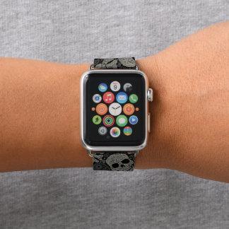 Bracelet Apple Watch Bande de montre d'Apple de motif d'os croisés de