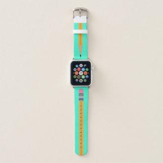 Bracelet Apple Watch Bande de montre d'Apple de turquoise de crayon