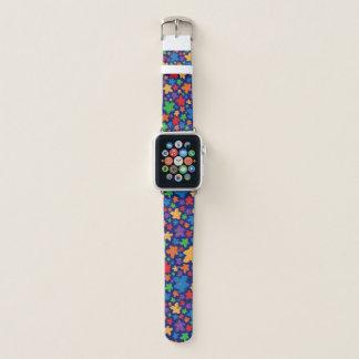 Bracelet Apple Watch Bande de montre d'Apple d'impression de Meeple