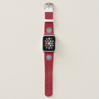 Bracelet Apple Watch Bande de montre d'Eagle de liberté (rouge) - Apple