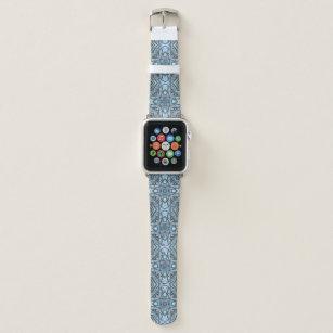 84700f09a0 Bracelet Apple Watch Bande de montre en cristal bleue d'Apple de motif