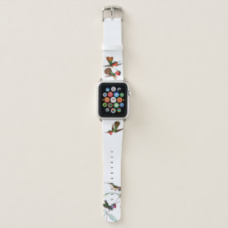 Bracelet Apple Watch Bande de montre florale d'Apple de faune d'oiseau