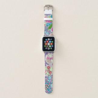 Bracelet Apple Watch Bande de montre géniale d'Apple de fleur