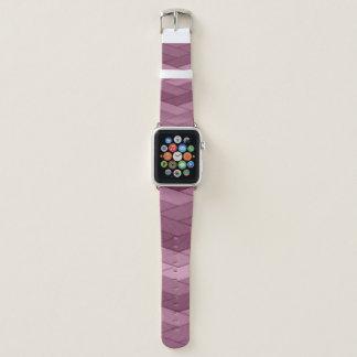 Bracelet Apple Watch Bande de montre géométrique mauve d'Apple de motif