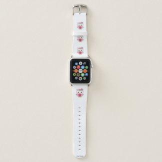 Bracelet Apple Watch Bande de montre graphique d'Apple de hibou rose