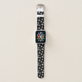 Bracelet Apple Watch Bande de montre lunatique d'impression de crâne