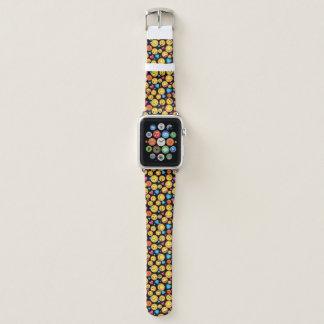 Bracelet Apple Watch Bande de montre mignonne d'impression d'Emoji