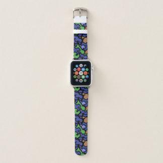 Bracelet Apple Watch Bande de montre orange originale du motif A de