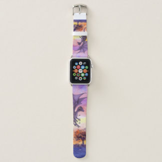 Bracelet Apple Watch Bande de montre pourpre d'Apple de dragon