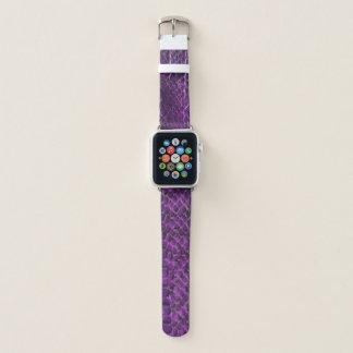 Bracelet Apple Watch Bande de montre pourpre d'Apple de regard de peau