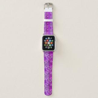 Bracelet Apple Watch Bande de montre rose avec du charme d'Apple de