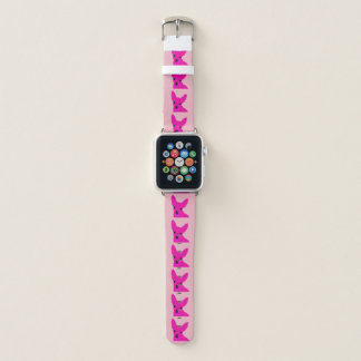 Bracelet Apple Watch Bande de montre rose d'Apple de chiwawa