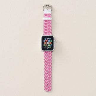 Bracelet Apple Watch Bande de montre rose d'Apple de motif de coeur