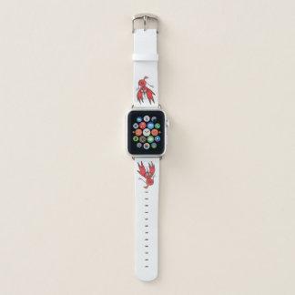 Bracelet Apple Watch Bande de montre rouge d'Apple d'oiseau de